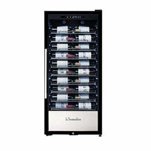 La Sommelière Cave à vin de vieillissement gamme professionnelle La Sommelière PF110 par FRIO | 107 bouteilles – Présentation des vins | Design élégant
