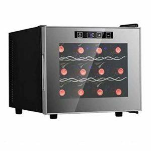 LP-LLL Refroidisseur à vin – Armoire à vin, Réfrigérateur à vin, Réfrigérateur à vin, 12 bouteilles de vin, 11-18 °C, Contrôle tactile, Température réglable