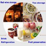 LP-LLL Refroidisseur à vin – Armoire à vin, Réfrigérateur à vin, Réfrigérateur à vin, 28 bouteilles de vin, 11-18 °C, Contrôle tactile, Température réglable
