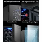 LP-LLL Refroidisseur à vin – Armoire à vin, Réfrigérateur à vin, Réfrigérateur à vin, Réfrigérateur à vin – Réfrigérateur, 16 bouteilles de vin, 11-18 °C, Contrôle tactile, Température réglable