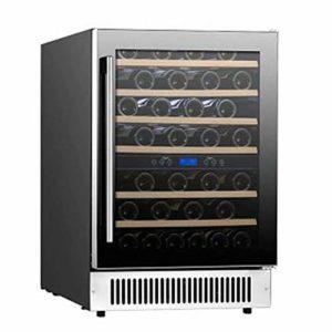 LP-LLL Refroidisseur à vin – Armoire à vin, Réfrigérateur à vin, Réfrigérateur à vin, Réfrigérateur à vin – Réfrigérateur, 46 bouteilles de vin, 11-18 °C, Contrôle tactile, Température réglable