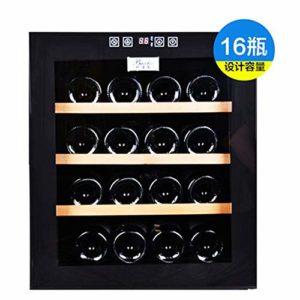 LP-LLL Refroidisseur à vin – Armoire de réfrigérateur autonome avec 16 bouteilles, température réglable Noir [Classe énergétique A++]