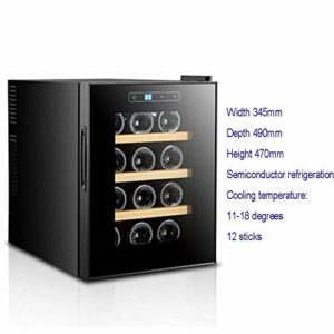 LP-LLL Refroidisseur à vin – Réfrigérateur à vin, 2 zones de refroidissement programmables, éclairage LED, 11-18 °C, Réfrigérateur à température réglable