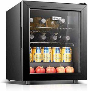 Réfrigérateur refroidisseur de vin Vin rouge Thermostat réfrigéré Cave à vin température constante Ice Bar Accueil Petite Porte simple conservation des aliments Bureau (Couleur: Noir, Taille: 40.85 *