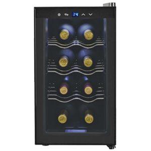 Tidyard Frigo à Vin | Cave à Vin 8 Bouteilles 25 L Affichage LCD