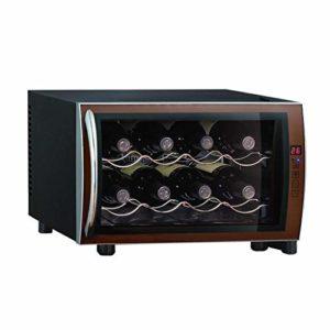 Vin silencieux 8 Bouteille de vin Réfrigérateur – Intégrable écran tactile Cave à vin Petit thermo-électrique Cave à vin – Vin rouge de température et d'humidité intelligent puce électronique lili