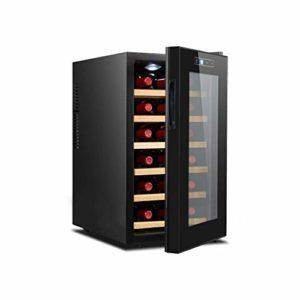 BUDBYU Cave à vin/Refroidisseur à vin, Refroidisseur à vin thermoélectrique de qualité supérieure 55L, réfrigérateur Autonome à Fonctionnement Silencieux pour Bar à Domicile ou Bureau