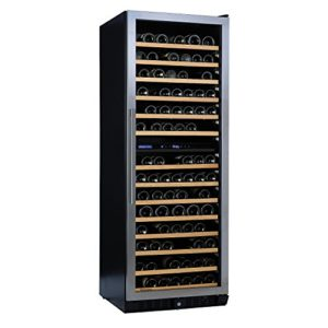 Cave à vin N' FINITY PRO LX Dual Zone Porte en acier inoxydable avec charnière à droite