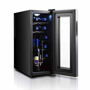 K.W Cave à vin Réfrigérateur vin Rouge et Blanc Champagne Chiller Boisson Frigo Calme Opération Frigo Comptoir Cave à vin 33L Lili