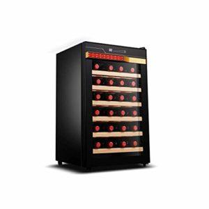 Réfrigérateur / refroidisseur à vin de 28 bouteilles – Réfrigérateur à vin autonome à fonctionnement silencieux pour réfrigérateur à vin, système de refroidissement efficace pour bar à domicile ou bu