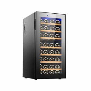 Refroidisseur à vin / refroidisseur de comptoir en acier inoxydable de qualité supérieure, cave à vin rouge et blanc avec température numérique, réfrigérateur autonome pour bar ou bureau à domicile