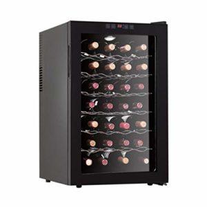 XJBHRB Cave Bouteilles, Cave à vin réfrigérante, Réfrigérateur | Lumière LED | Écran Tactile | Affichage de la température | Moins de Bruit et Aucune Vibration |