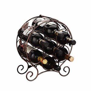 YO-TOKU Étagère à vin empilable pour bouteilles – Parfait pour bar, cave à vin, cave, cellier, garde-manger, etc. Support pliable pour bouteilles de vin (couleur : noir, taille : 31 x 16 x 37 cm)