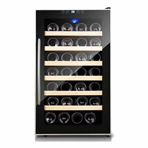 Autoportantes Caves à vin, 28 Bouteilles de vin sous Le comptoir Réfrigérateur, Comptoir Cave à vin avec écran LCD Tactile numérique Commandes ANGANG