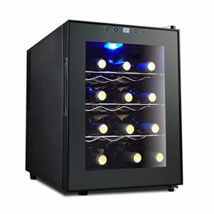 Cave A Vin 12 Bouteille Winecellar Zones De Température 10-18 °Écran Tactile, Display Digital, Éclairage Intérieur LED, Fonctionnement Silencieux Et Sans Vibration, 4 Etagères