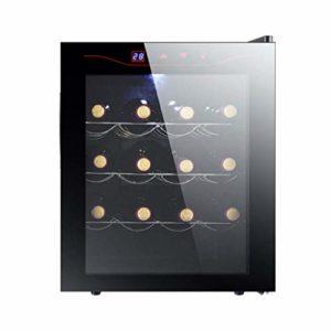 Cave à vin – Cave à vin, Réfrigérateur, 16 bouteilles, opération facile, LED, refroidisseur de vin avec une zone de température à la fois de 11-18deg, C, noir 8bayfa (Color : Stainless Steel)
