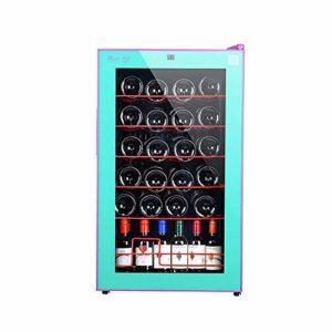 Cave à vin Cave à vin Température et d'humidité indépendant vin Cabinet Réfrigérateur Simulation Cave à vin Système électronique de contrôle de température, Bleu ANGANG (Color : Blue)