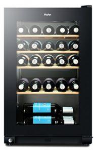Haier WS30GA refroidisseur à vin Autonome Noir 30 bouteille(s) Refroidisseur de vin compresseur A – Cave à vin (Autonome, Noir, Noir, 4 étagères, 1 portes(s), Noir)