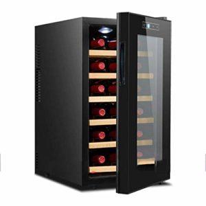 Panachés de vin réfrigérateurs – Cave à vin – Intégrable vin Cooler, écran tactile, LED, Écran tactile, à faible consommation énergétique A, Noir 8bayfa (Color : Solid Wood)