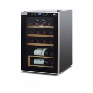 WSMLA Bouteilles de vin – Zone autoportant unique Réfrigérateur et Chiller for Vins rouges et blanc Vin rouge Thermostat température constante Cave à vin Maison Petit vin Réfrigérateur refroidi par ai