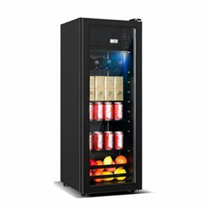 YYDD Réfrigérateur et boissons Cooler – Cave à vin 138L, LED bleu clair, vin rouge Cabinet Réfrigérateur Accueil Ice Bar, Chambre Accessoires for Man Show votre identité
