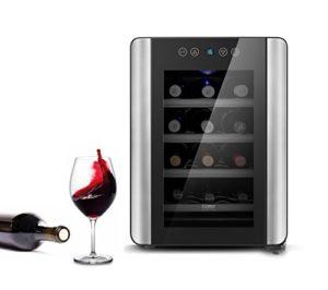 Caso WineCase Red 12– Cave à Vin spécialement conçu pour les bouteilles de vin rouge, 12bouteilles