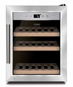Caso WineSafe 12 Classic – refroidisseurs à vin (Autonome, 5-22 °C, Acier inoxydable, A, Bois, LED)