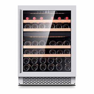 Cave à vin, 39 Bouteilles de vin Réfrigérateur Contrôle d'humidité numérique Intelligent Compresseur intégré ou autoportantes Caves à vin for Bureau Bar (Couleur: Argent) ANGANG (Color : Silver)