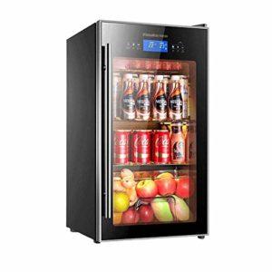 Cave à vin et réfrigérateur, autoportant rafraîchisseur à vin Réfrigérateur, en acier inoxydable avec porte en verre 8bayfa