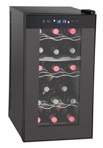 Guzzanti GZ17DD refroidisseur à vin – refroidisseurs à vin (Autonome, Noir, 8-18 °C, 12-18 °C, C, Noir)