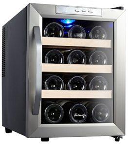 Kalamera KRC-12ASSE Cave à vin electrique réfrigérée 33L (peut contenir jusqu'à 12 bouteilles de vin de taille standard), température 8-18 ° C