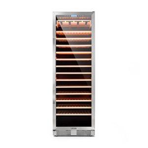 Klarstein Vinovilla Grande • Cave à vin XXL • Capacité 425L • 165 bouteilles • Classe A • Ecran LCD • 5-20°C • porte vitrée/cadre inox