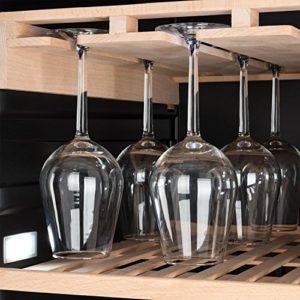 Klarstein Vinovilla Grande Duo • Cave à vin de grande capacité • Vol 425 L • 165 bouteilles • 12 étagères • Éclairage LED • Porte-verre • 2 zones de refroidissement • Température ajustable • Noir