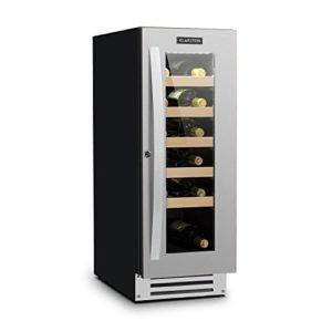 Klarstein Vinovilla Smart • cave à vin • réfrigérateur à boisson • volume de 50 litres • 20 bouteilles • porte avec cadena et 2 clés • panneau de commande tactile • éclairage intérieur LED • noir