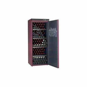 Climadiff Cli-CVP215 – refroidisseurs à vin (Autonome, Bourgogne, Rouge, 0 – 32 °C, A, Noir, Bois)