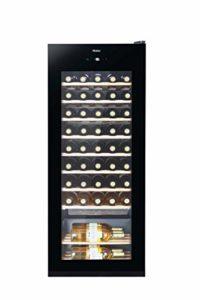 Haier WS50GA refroidisseur à vin Autonome Noir 50 bouteille(s) A – Cave à vin (Autonome, Noir, Noir, 10 étagères, Bois, 50 bouteille(s))